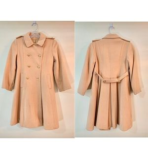 Jackets & Blazers - Cream Pea Coat kids size 8 or juniors XXS